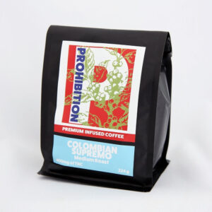 Prohibition Clombian Supremo Medium Roast 400mg THC Coffee - Mountain Greenery - Moonrock Canada - Moon Rocks Weed - Hamilton Ontario - Best Marijuana and Cannnabis